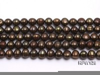 Wholesale 10-11mm Peacock Round Freshwater Pearl String
