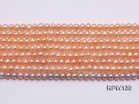 Wholesale 5mm Pink Round Freshwater Pearl String