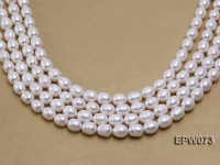 Wholesale Super-size 12x14mm Classic White Rice-shaped Freshwater Pearl String