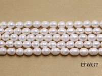Wholesale 7x8mm A grade White Rice-shaped Freshwater Pearl String