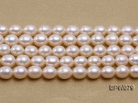 Wholesale 6.5X8mm White Rice-shaped Freshwater Pearl String