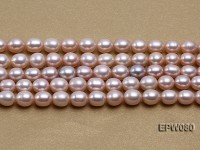 Wholesale 7x9mm Natural Lavender Rice-shaped Freshwater Pearl String