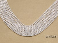 Wholesale 3×4.5mm white Rice-shaped Freshwater Pearl String