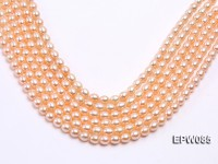 Wholesale 8×10.5mm Pink Rice-shaped Freshwater Pearl String