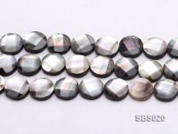 Wholesale 16mm Black Faceted Seashell String