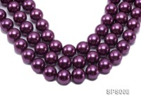 Wholesale 20mm Round Wine Red Seashell Pearl String