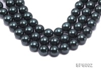 Wholesale 20mm Black Round Seashell Pearl String
