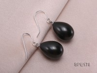 12x16mm mysterious black teardrop seashell pearl earrings