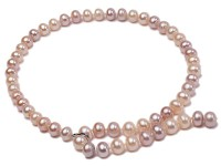 10-11mm natural light color freshwater pearl single necklace