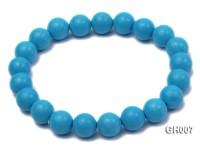 rich blue 10mm round turquoise bracelet