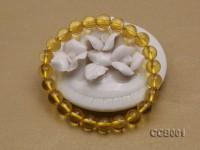 8.5mm Round Citrine Beads Elastic Bracelet