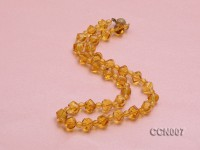 9×11.5mm Irregular Faceted Citrine Beads Necklace