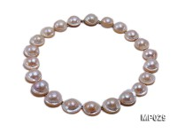 20-22mm disc shape mabe pearl necklace