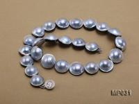 17-19mm mabe necklace with sliver clasp