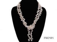 5x7mm white oval freshwater pearl opera necklace
