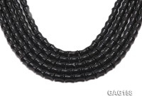 wholesale 18x11mm cylinder-shaped black agate strings