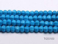 Wholesale 9x12mm Oval Blue Faceted Turquoise Beads String