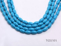 Wholesale 8×13.5mm Oval Blue Turquoise Beads String