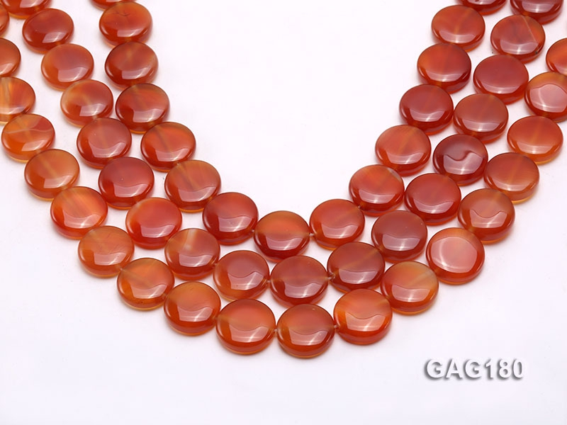 wholesale 18.5mm round red agate pieces strings