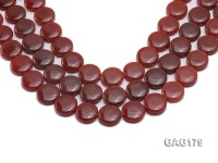 wholesale 18.5mm round red agate pieces string