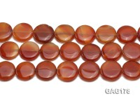 wholesale 21mm round red agate pieces strings