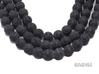 wholesale 20mm black round agate strings