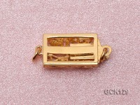 10X20mm Single-strand Golden Gilded Clasp
