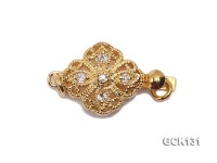 11X20mm Single-strand Flower-shaped Golden Gilded Clasp