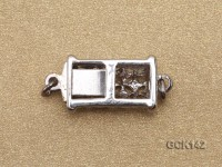 7.5X19mm Gilded Clasp Inlaid with Shiny Zircons