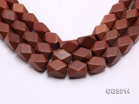 wholesale 16x22mm irregular Goldstone strings