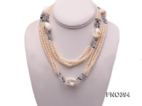 5mm Natural White Flat Freshwater Pearl Necklace