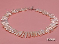 Classic 6x24mm Pink Freshwater Pearl Sticks Necklace
