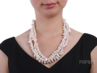Three-strand 8-9mm White Freshwater Pearl Necklace with a Sterling Sliver Clasp