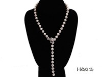 natural 8mm white round freshwater pearl necklace