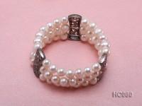 3 strand 8-9mm white freshwater pearl bracelet