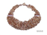 Eight-strand Natural Color Shell Necklace