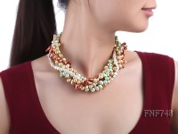 Multi-strand Colorful Cultured Freshwater Pearl Necklace
