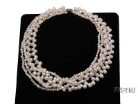 Multi-strand White Cultured Freshwater Pearl Necklace
