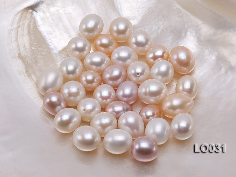 Wholesale 11.5×15-12x16mm Classic White Drop-shaped Loose Freshwater Pearls