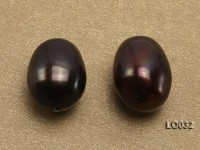 Wholesale 10.5×13-11x14mm Black Drop-shaped Loose Freshwater Pearls