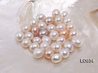 Wholesale 12X13.5mm Classic White Drop-shaped Loose Freshwater Pearls