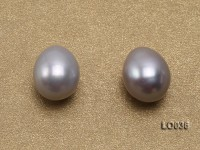 Wholesale 7.5X10mm Silver Drop-shaped Loose Freshwater Pearls