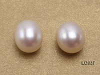 Wholesale 9X12.5-10X13.5mm Classic White Drop-shaped Loose Freshwater Pearls