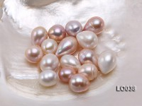 Wholesale 14×16-14x20mm Classic White Drop-shaped Loose Freshwater Pearls
