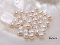 Wholesale 10×11.5-10X13.5mm Classic White Drop-shaped Loose Freshwater Pearls