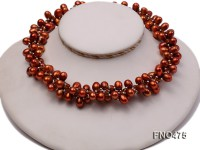 8*11mm brown side-drilled freshwater pearl opera nacklace