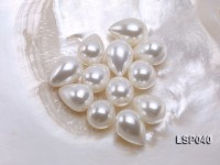 Wholesale 13x18mm Teardrop White Loose Seashell Pearl