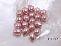 Wholesale 12x16mm Teardrop Pink Loose Seashell Pearl