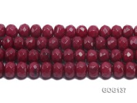 Wholesale 12x16mm Rose-like Faceted Wheel-shaped Gemstone String