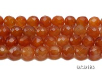 wholesale 18mm faceted red round agate strings